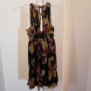 Anthropologie Anna Sui floral print silk dress 6